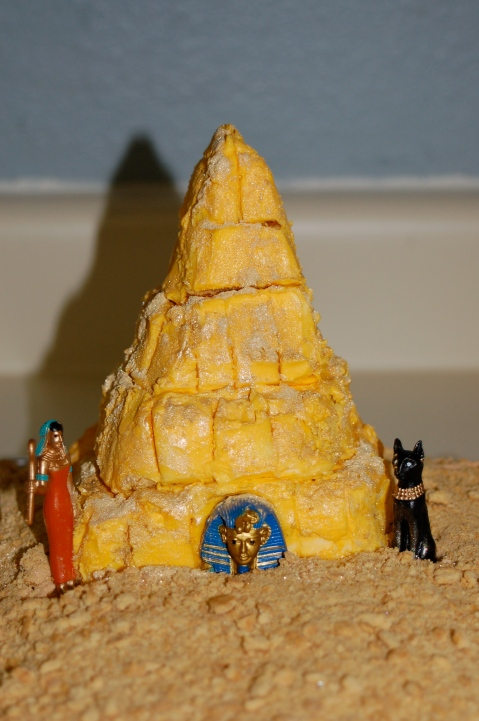 You would have thought she would have remembered this one, since I CRIED WHILE TRYING TO MAKE THE DARN PYRAMID!