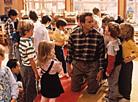 scene from Kindergarten Copphoto from:  cineplex.com