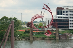 Look, it's a random, weird, red sculpture in the middle of town.  Yup, got that in SA.