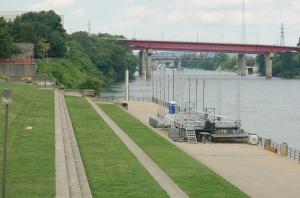 Look!  It's a Riverwalk!  (Just like San Antonio)