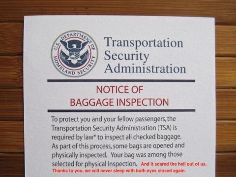 TSA Note