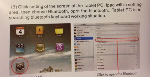 This is what happens when you buy a cheap bluetooth keyboard; they give you the instructions in code.